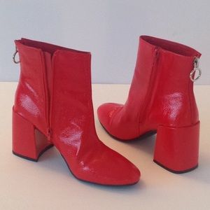 Boohoo Shoes - 🍃🌹Boohoo Red Patent Boots - 'MAKE AN OFFER' Day